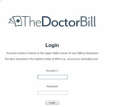 Pay the bill at www.thedoctorbill
