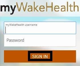 myWakeHealth Signin process