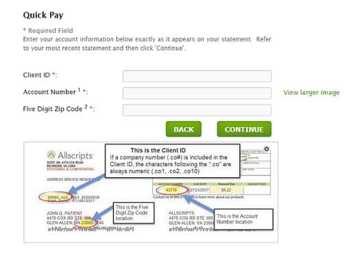 pay bill online enrollment