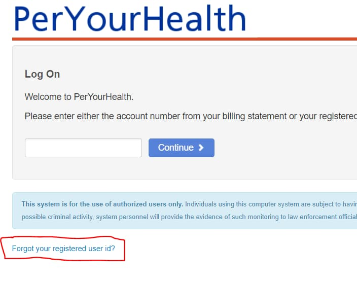 peryourhealth online payment system