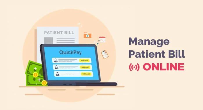 quickpayportal manage patient bill online